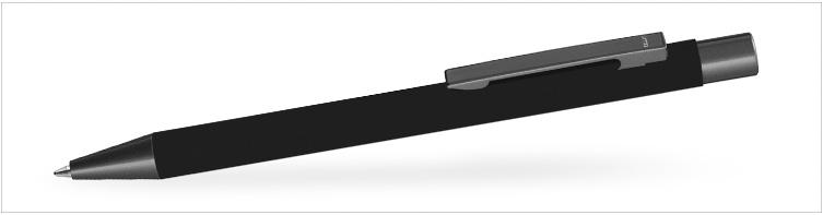 Kugelschreiber mit Soft-Touch aus Metall