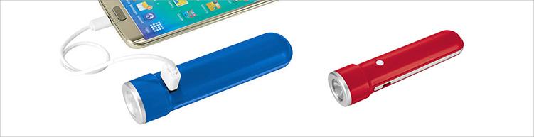 Powerbank 2in1 mit Taschenlampe