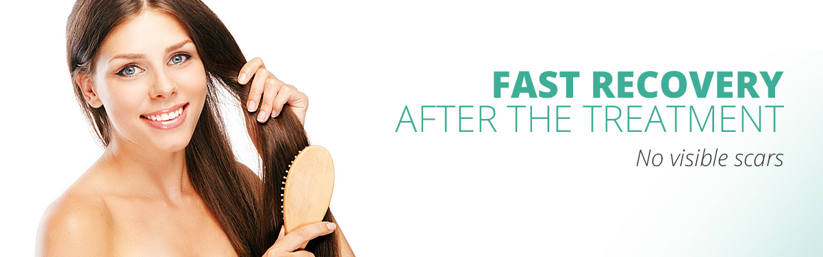 Fast recovery after the hair transplant