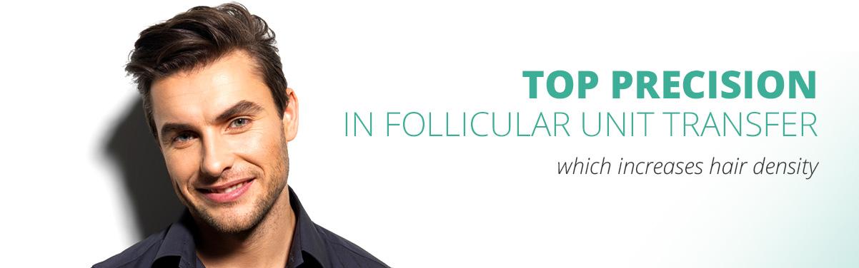 Top precision in follicular unit transfer