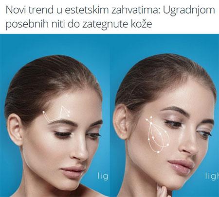 Zategnuta koža - facelifting